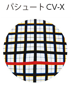 ユレ・ユガミの少ない自然な見え方 パシュート CV-X
